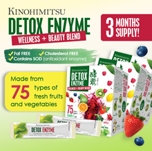 Kinohimitsu Detox Enzyme 30sx3 [3 mth supply] 75 Types of Fruits n Vegetables * Digestive Enzyme