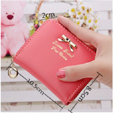 kecil pita new small bow wallet zipper purse