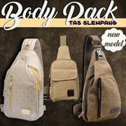 [NEW MODEL] Bodypack Bag Tas Selempang Pria Bahan Jeans | Men Sling Shoulder Bags - tas pria - tas selempang