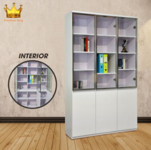 Premium Bookcase Racks/Shelves! ★Shaun Bookshelf ★Storage ★Organizer ★Furniture ★Glass Door Cabinet