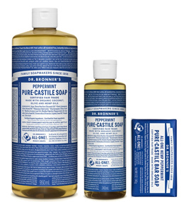 Dr.Bronners Peppermint Pure-Castile Soap Set