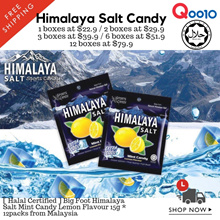 [ Halal ] Himalaya Salt Candy 1/2/3/6/12 box whole sale bundle ( 1box = 12packs * 15g )