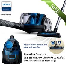 FREE FLOOR MATS X 2 PHILIPS PowerPro Compact Bagless vacuum cleaner FC9352/61