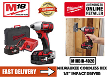 Milwaukee M18BID-402C 18V Cordless Battery Impact Driver/ c/w 2 nos 4.0AH Batteries and Charger