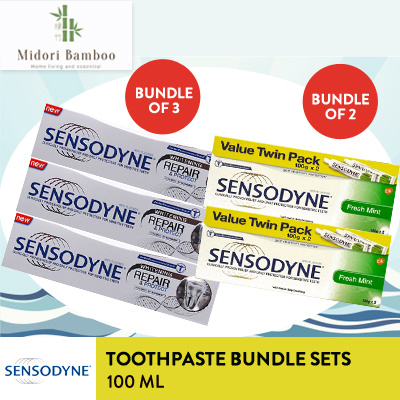 [Midori Bamboo] Bundle 3 Sensodyne Repair n Lindungi 100G / value pack Deals for only Rp65.000 instead of Rp65.000