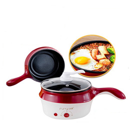 18CM Mini Multifunction Stainless Steel Electric Cooker Steamer Pot