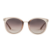 【Focus Point】 Round Beige Sunglasses GU7459