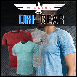 ★WINNING DRI-GEAR★ SPORTS DRY FIT WEAR T-SHIRT. SOFT AND COMFORTABLE POLYESTER MATERIAL!