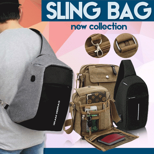 Sling Bag / Tas Anti Maling Smart Crossbody Bag Deals for only Rp109.000 instead of Rp109.000