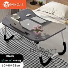 ★Laptop Table★Bed Table★Foldable Wood Desk★Computer Table★Big size★Non-Slip★