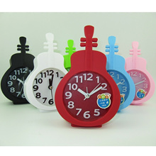 New special offers creative gift guitar shape candy color series alarm mute the alarm clock stere