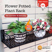 Flower Potted Plant Rack For Corridor  And Balcony Hanging Stand Plant Iron Display Shelf Home Decor