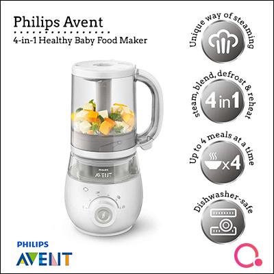 Philips Avent Scf875 4 In 1 Steamer Blender Healthy Baby Food Maker Fruits Juice