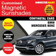 ★QUALITY★ MAGNETIC SUNSHADE (BMW MERCEDES BENZ) FREE MICROFIBRE CLOTH!
