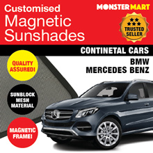 ★QUALITY★ MAGNETIC SUNSHADE (BMW MERCEDES BENZ) FREE MICROFIBRE CLOTH!