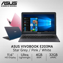 ASUS VivoBook E203MA / lightweight 11.6-inch laptop /1 Years International warranty