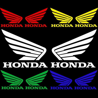 Qoo10 1 Pair Reflective Motorcycle Logo Stickers Decals For Honda