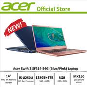 Acer Swift 3 SF314-54G Narrow Bezel Design Laptop - 8th Gen i5 Processor with Graphics Card
