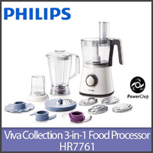 Philips HR7761 Viva Collection Food processor 750W /Compact 3 in 1 setup/10 accessories 28 function