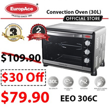 EuropAce Electric Oven 30L (EEO-306C) / 2 YEARS WARRANTY ON HEATING ELEMENT