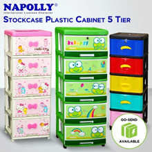 FREE ONGKIR - Napolly Lemari Stockcase Kabinet Plastik 5 Susun