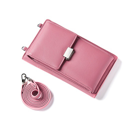 ★ Sling Wallet + Phone Pouch ★ Fashion Design Card Notes Long Purse Coin Stylish Handphone
