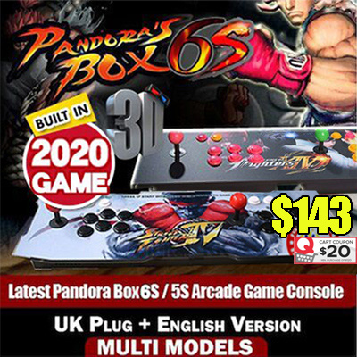 ?SG Best Deal?Pandora Box 5S / 6S 3D English Version Arcade Game Console 1299 / 1388 / 2000 /2020 Games Jamma UK Plug?Free Shipping Deals for only S$360 instead of S$0
