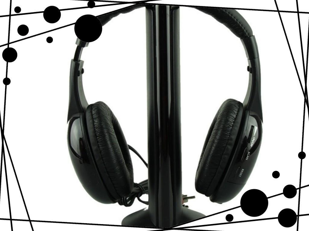 Superior 5in1 Wireless Headphone Casque Audio Sans Fil Ecouteur Hi Fi Radio Fm Tv Mp3 Mp4 June25