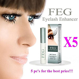 5 X FEG Eyelash Enhancer Growth Liquid/Serum. 100% Original with Anti-Fake sticker!!!