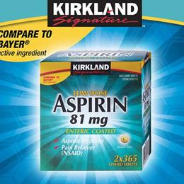 ★최저가★미국 커클랜드 아스피린 Aspirin  81 mg  730 Tablets /저용량 아스피린