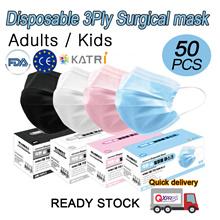 READY STOCK!! 3-Ply Mask 50pcs /Anti Pneumonia Mask / Anti-Corona / Anti-haze / surgical mask 3 ply