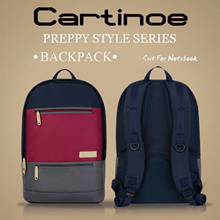 Cartinoe Preppy Style Series Macbook/Laptop Backpack 11-15.4 Multi Colour