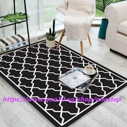 Contemporary Home Living Door Mat Moroccan Trellis Design Lattice Area Rug  Modern Simple Carpet