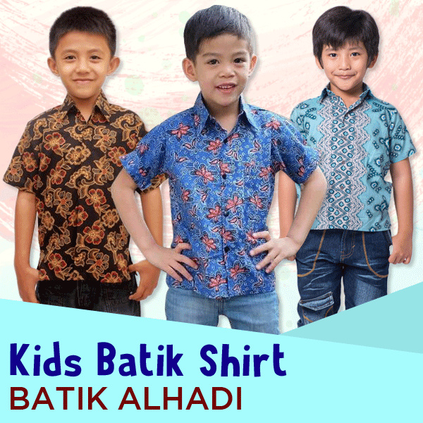 Batik Alhadi Hem Katun Anak Collections Deals for only Rp45.000 instead of Rp45.000