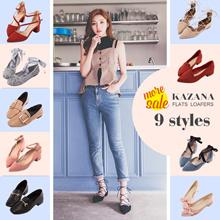 [Free Gift!!] Gracegift-KAZANA Flats/Loafers/Women/Ladies/Girls Shoes/Taiwan Fashion