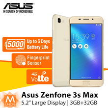 [Super Sale] Asus Zenfone 3S Max | 3+32G 5.2 inch | International Version |Free Warranty
