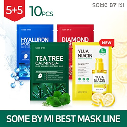 🌟2 DAYS ONLY🌟 [SOME BY MI] GLOW LUMINOUS AMPOULE MASK 10PCS [TEA TREE / HYALURON / DIAMOND_3types