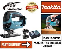 MAKITA DJV180RTE 18V Cordless Jig Saw Set c/w 2 No 18V Batteries and Charger