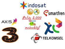 Pulsa Telkomsel / Indosat / XL / Tri / Smartfren /Axis 5000+ MASA AKTIF
