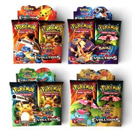 Pokemon Trading Cards: 324 PCs / 36 Booster Packs Game TCG EVOLUTIONS MEGA EX GX