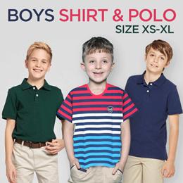 Anak Laki Kaos Polo Shirt Junior - Umur 4 Sampai 20 Tahun