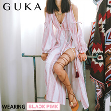 [BLACK PINK] Tassel ehtnic long dress