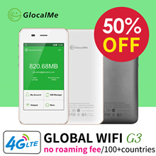【Super Deal】GlocalMe Portable Wifi Hotspot Wireless Router Pocket Mifi 4G LTE Network Free Roamig