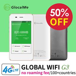 【Free 1Gb Data】GlocalMe Portable WiFi Hotspot 4G Wireless Mobile Travel Pocket Mifi Router Sim Free