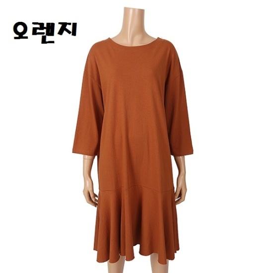 ・ね9部フリルのワンピースDH7WOP53 面ワンピース/ 韓国ファッション