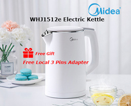 ★Hot Item★Midea WHJ1512e 1.5L Double Anti-Scalding Double-Layer 304 Stainless Steel Electric Kettle