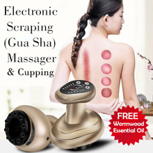 Electronic Gua Sha Cupping Scraping Instrument Electric Negative Pressure Meridian Brush Massager