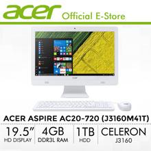 Acer Aspire AC20-720 (J3160M41T) - 19.5/Celeron J3160/4GB/1TB/USB Keyboard  Mouse/DVDRW/W10