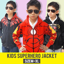 [KIDS JACKET PREMIUM QUALITY] ★Jaket Superhero★ [Captain America-Superman-Ironman] BEST SELLER