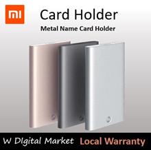 Xiaomi Youpin MIIIW Card Holder Stainless Steel Silver Aluminium Credit Card Case Women Men ID Card